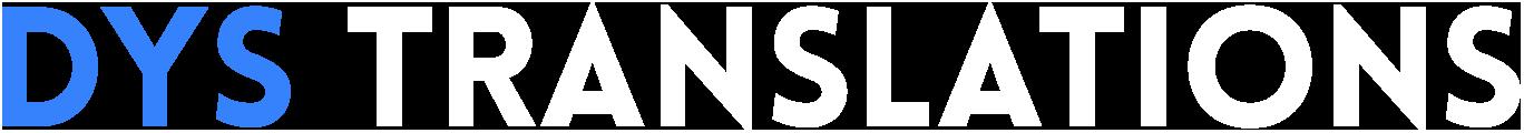 DYS Translations Logo Blue White